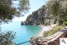 Private beach in Positano