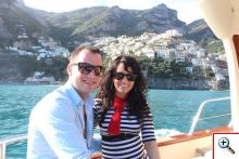 Jill & Nick approaching Positano