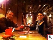 Nick and Jill in Cafe Rose Red, Brugge