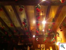 Ceiling of Cafe Rose Red in Brugge Belgium