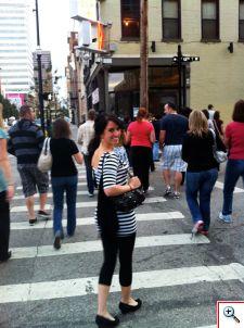 Jill on the walk