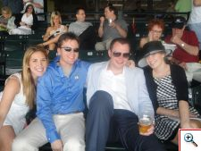 Kristal, Gary, Nick and Megan at Keeneland in 2011