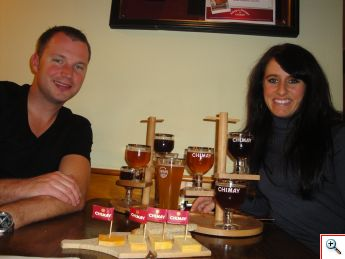 Nick & Jill with The Quadruple Tasting of Chimay Ales