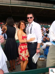 Jill & Nick enjoying the races at Keeneland