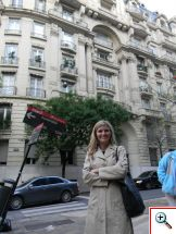 Julie showing off the architecture in Recoleta