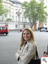 Julie enjoying the barrio of Recoleta