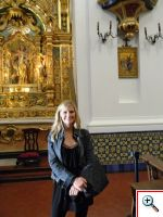 Julie inside Our lady of Pilar Church