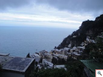 The rainy drive to Positano