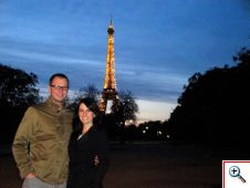 Nick & Jill at the top of Champs de Mars