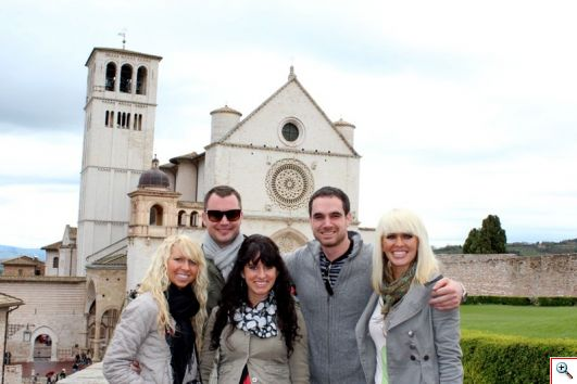 @JauntingKerrs and Family visit Assisi