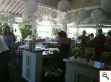 Veranda for a wedding