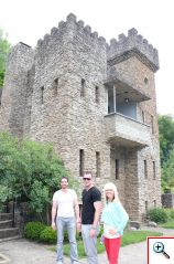 Joe, Nick and Jenny exploring Loveland Castle