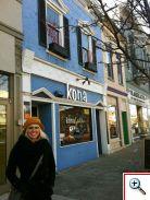 Jenny Kerr in front of Kona Bistro