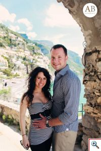 Jill and Nick in Positano - Photo Courtesy of Amber Bridges Studios