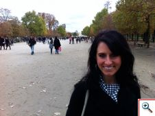 Jill in the Garden of Tuileries