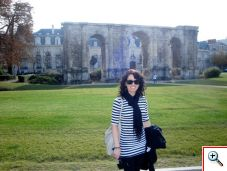 Jill at the Mars Gate in Reims, France