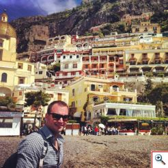 Nick enjoying Positano