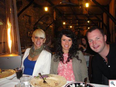 Jenny, Jill & Nick at La Tagliata in Positano