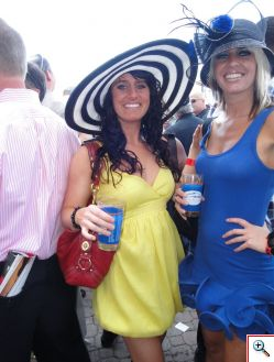 Jill and Jenny at the Derby