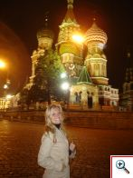 Julie in front of St. Basil