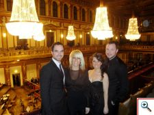 Joe, Jenny, Jill, and Nick at the Musikverein