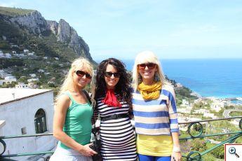Amber, Jill & Jenny in Capri